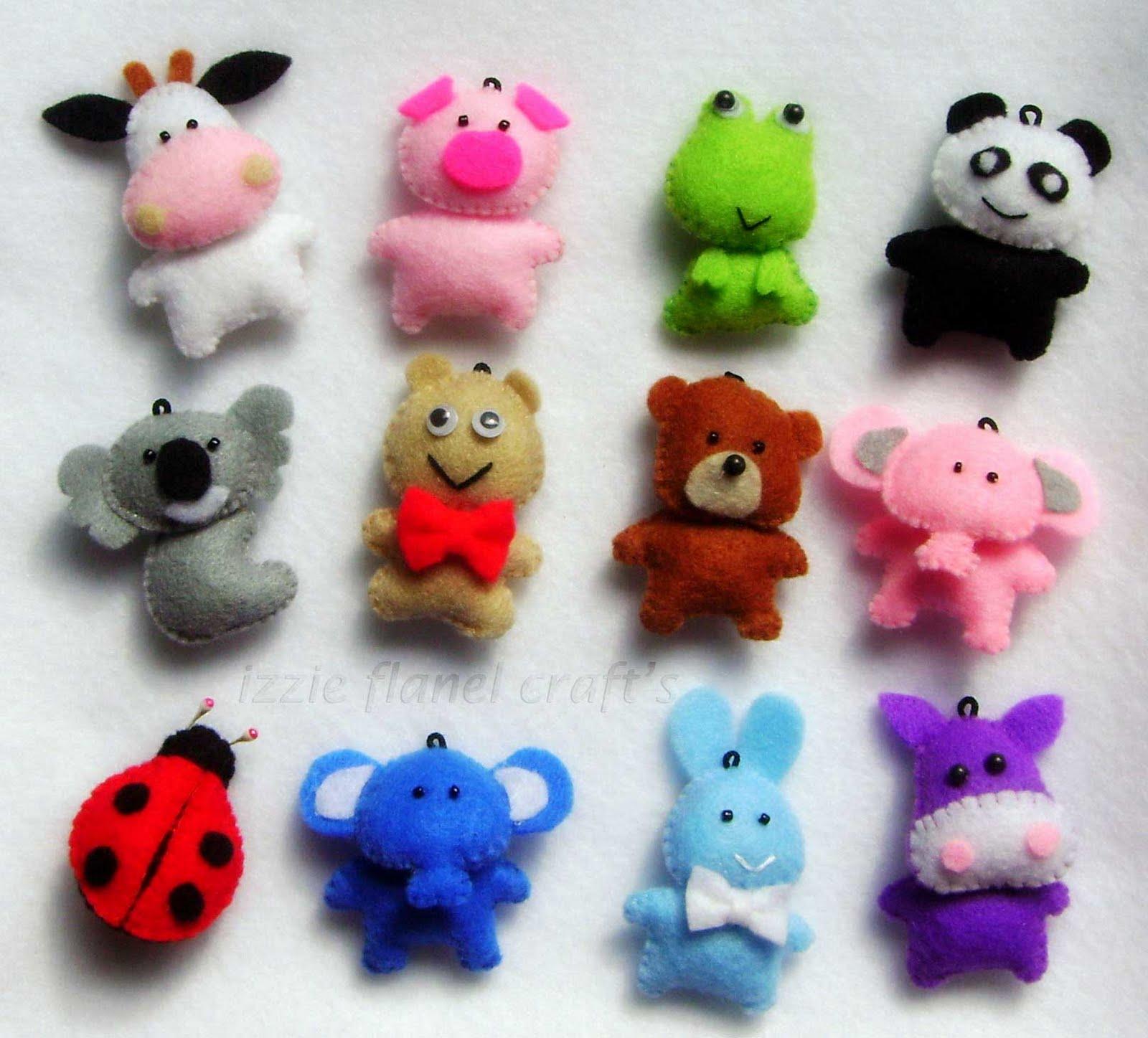 kreasi flanel aneka miniatur hewan lucu